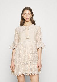 River Island - LUXE SMOCK - Cocktail dress / Party dress - offwhite - 0
