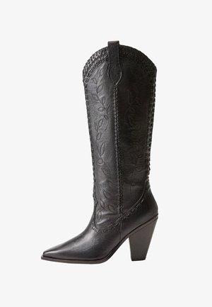 LEEF - Cowboy/Biker boots - schwarz