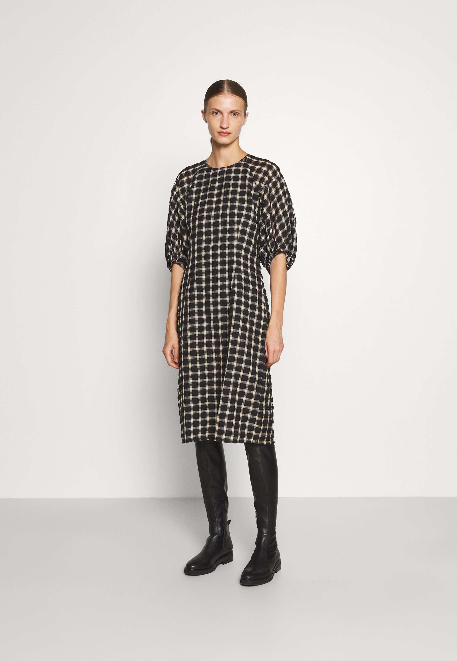 Women HARVEST LONG STRUCTURED CHECK - Day dress
