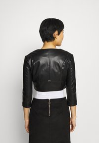 Guess - GEORGIA CROPPED - Faux leather jacket - jet blac - 2