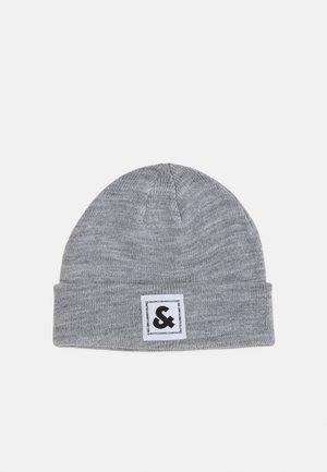 JACSTUART BEANIE - Čepice - grey melange/white