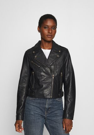 CHICAGO - Leather jacket - bleu marine