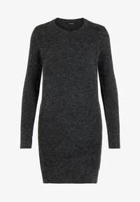 Vero Moda - VMDOFFY O-NECK DRESS - Strikket kjole - black - 4