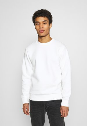 JJSTRUCTURE CREW NECK - Mikina - cloud dancer
