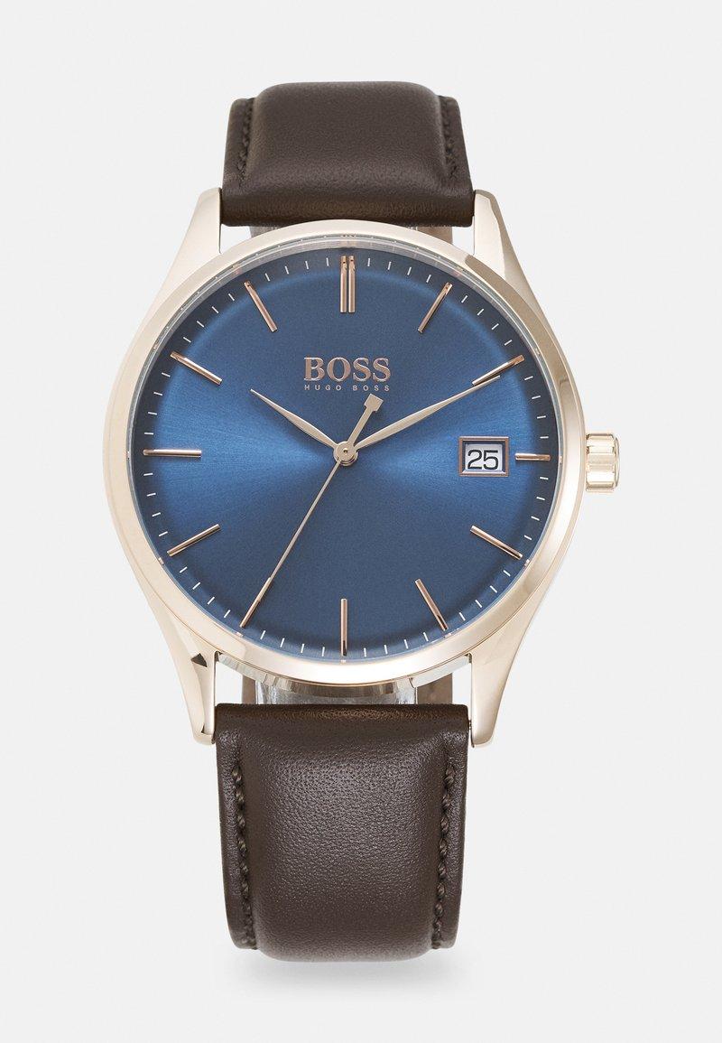 BOSS - COMMISSIONER UNISEX - Orologio - brown/blue