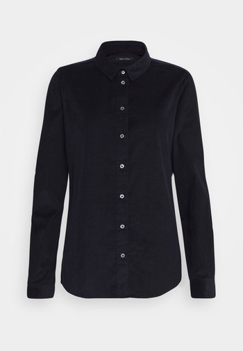 Button-down blouse - midnight blue