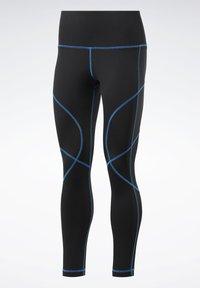 Reebok - MYT CONTRAST STITCH LEGGINGS - Tights - black - 7