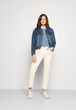 2 PACK - Print T-shirt - blue/beige