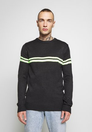 ARMAND - Jumper - slate grey/neon yellow