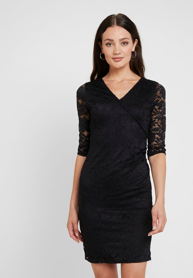 WRAP BODYCON - Tubino - black