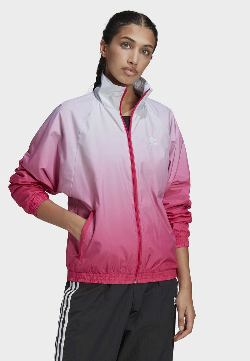 adidas Originals - ADICOLOR 3D TREFOIL TRACK TOP - Veste de survêtement - blue, pink