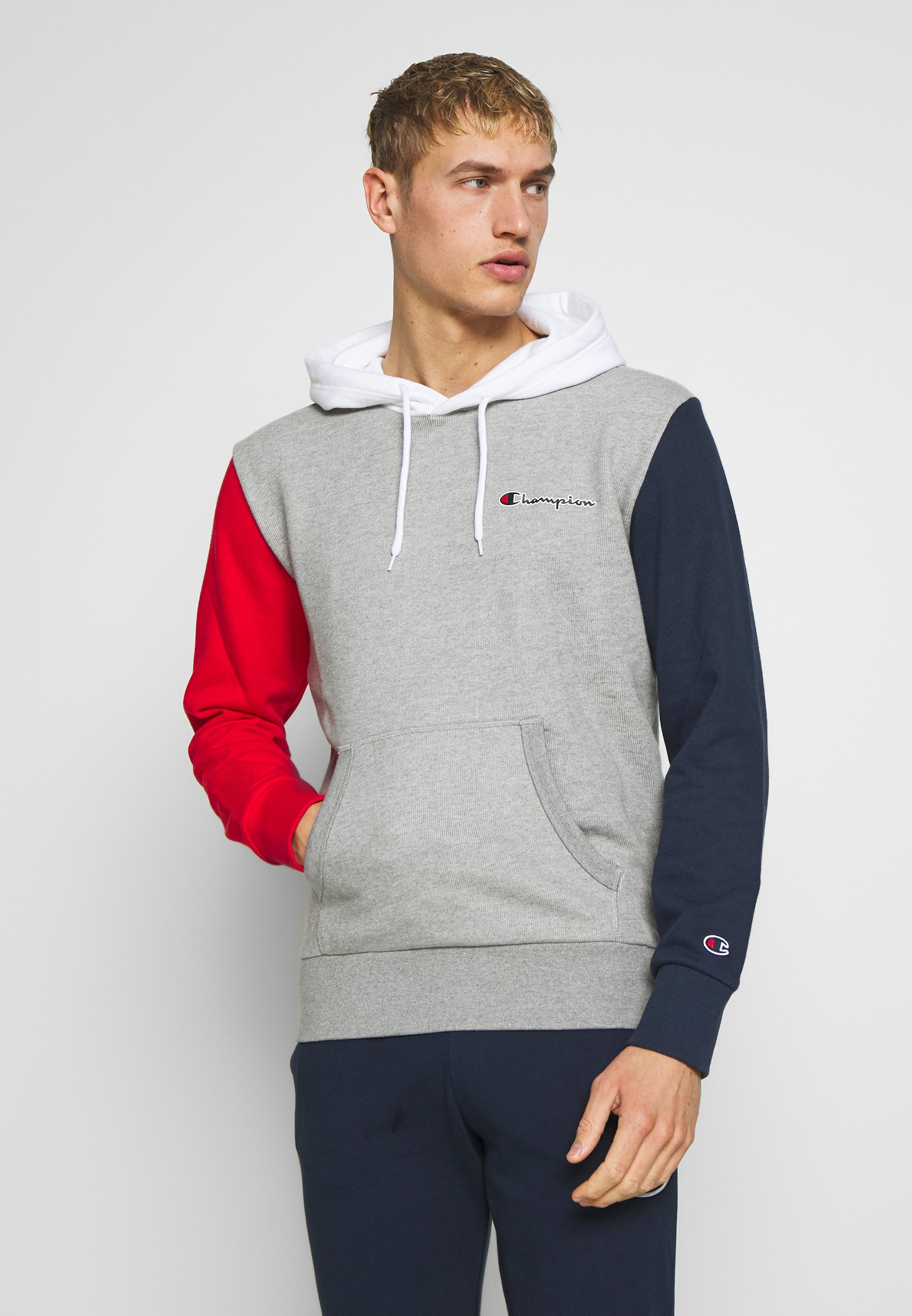 Champion ROCHESTER TEAM HOODED - Hoodie - blue/red/green/grey melange