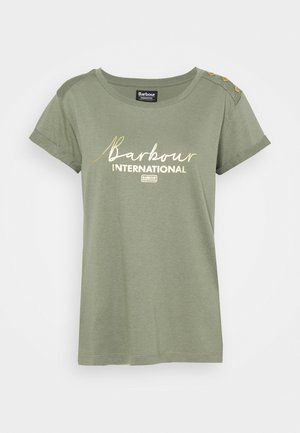 GRID TEE - Print T-shirt - army green