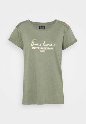 GRID TEE - Print T-shirt - army green