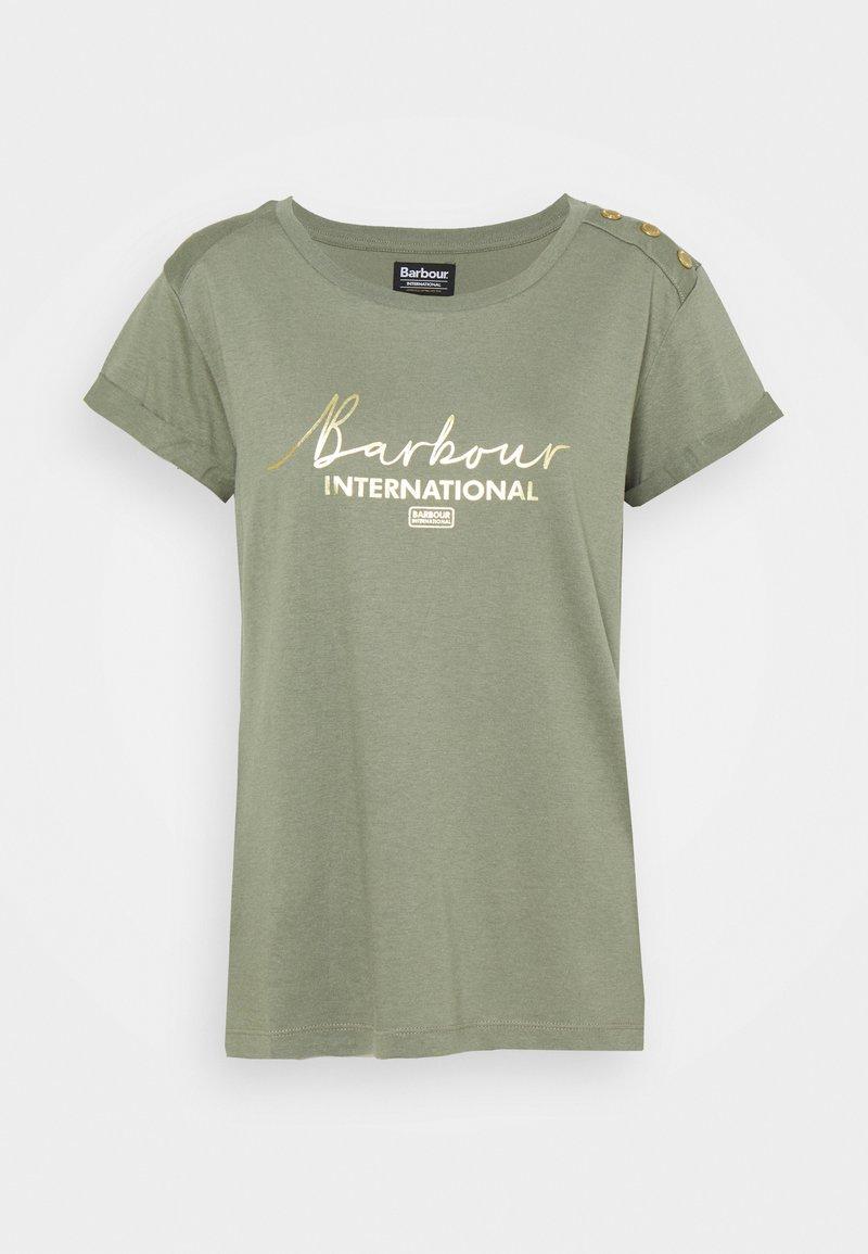 Barbour International - GRID TEE - Print T-shirt - army green