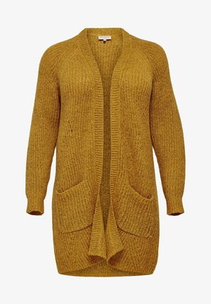 LANGE CURVY - Cardigan - yellow