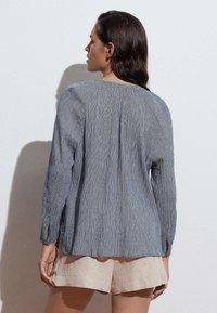OYSHO - Button-down blouse - dark blue - 2