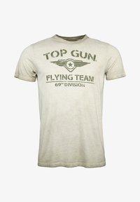 TOP GUN - MIT TOP GUN LOGO EASE - Print T-shirt - olive - 0