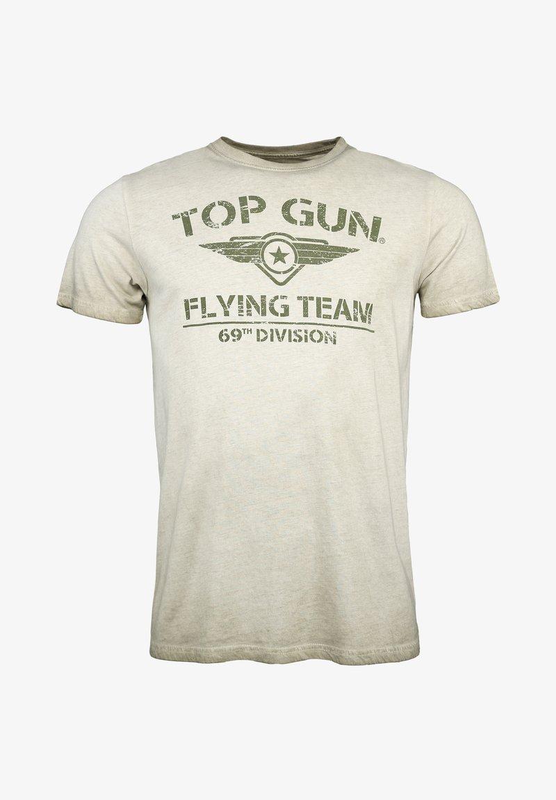 TOP GUN - MIT TOP GUN LOGO EASE - Print T-shirt - olive