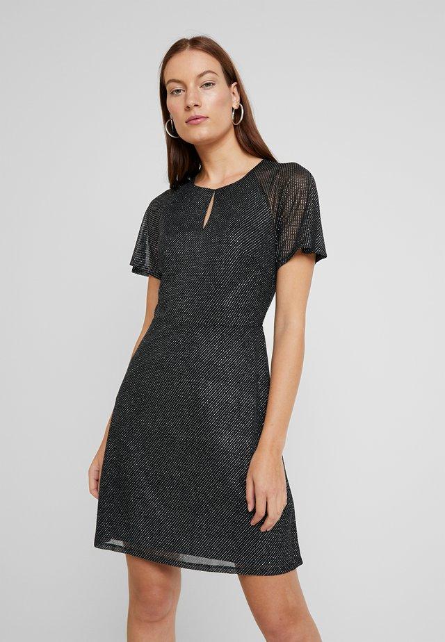 KEYHOLE FIT AND FLARE - Sukienka koktajlowa - black