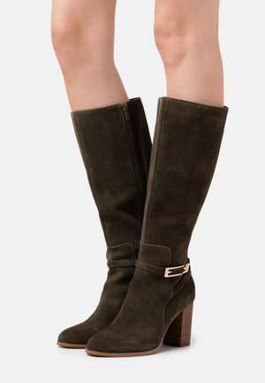 LEATHER - Boots - green