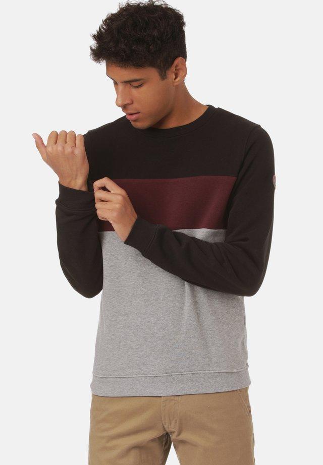 Sweatshirt - black/ cabernet/mid grey heather