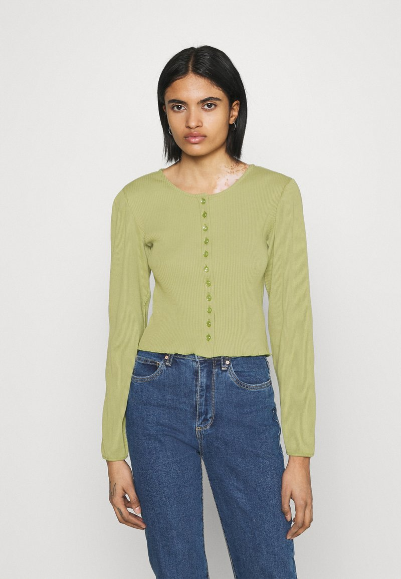 Monki - Cardigan - olive green