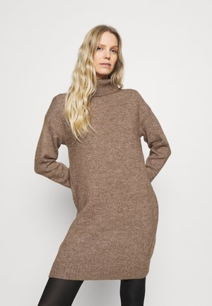 Jumper dress - light brown melange