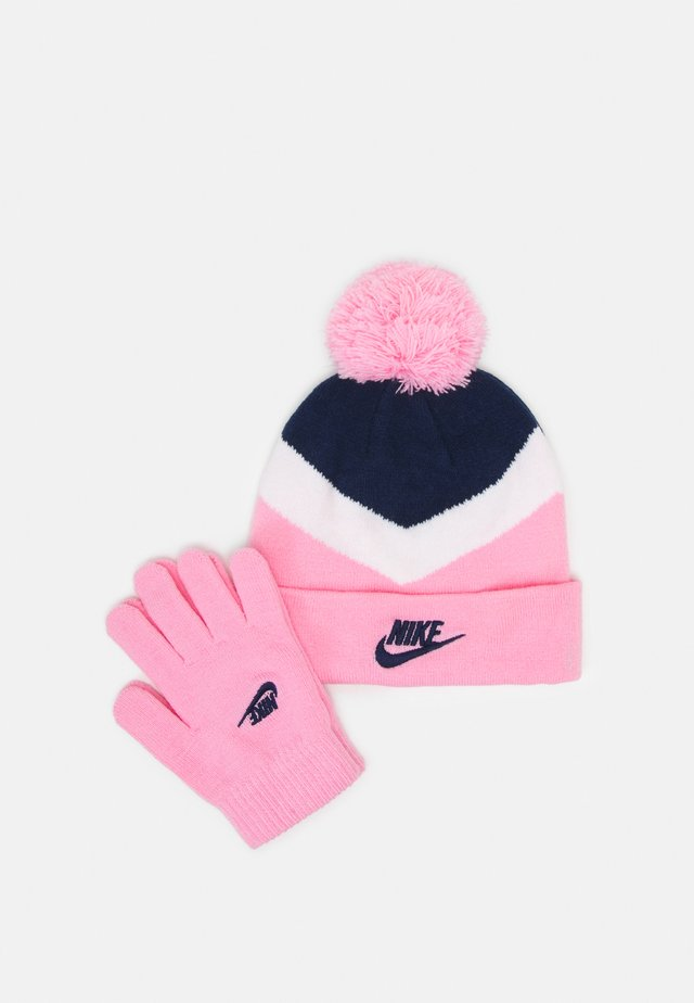 NSW BLOCKED BEANIE & GLOVE SET UNISEX - Berretto - pink
