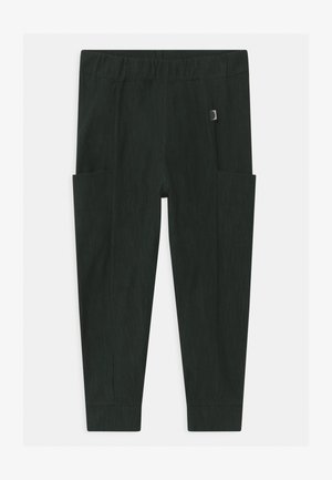 UNISEX - Trousers - black/school green