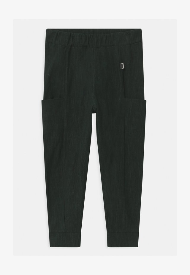 UNISEX - Broek - black/school green