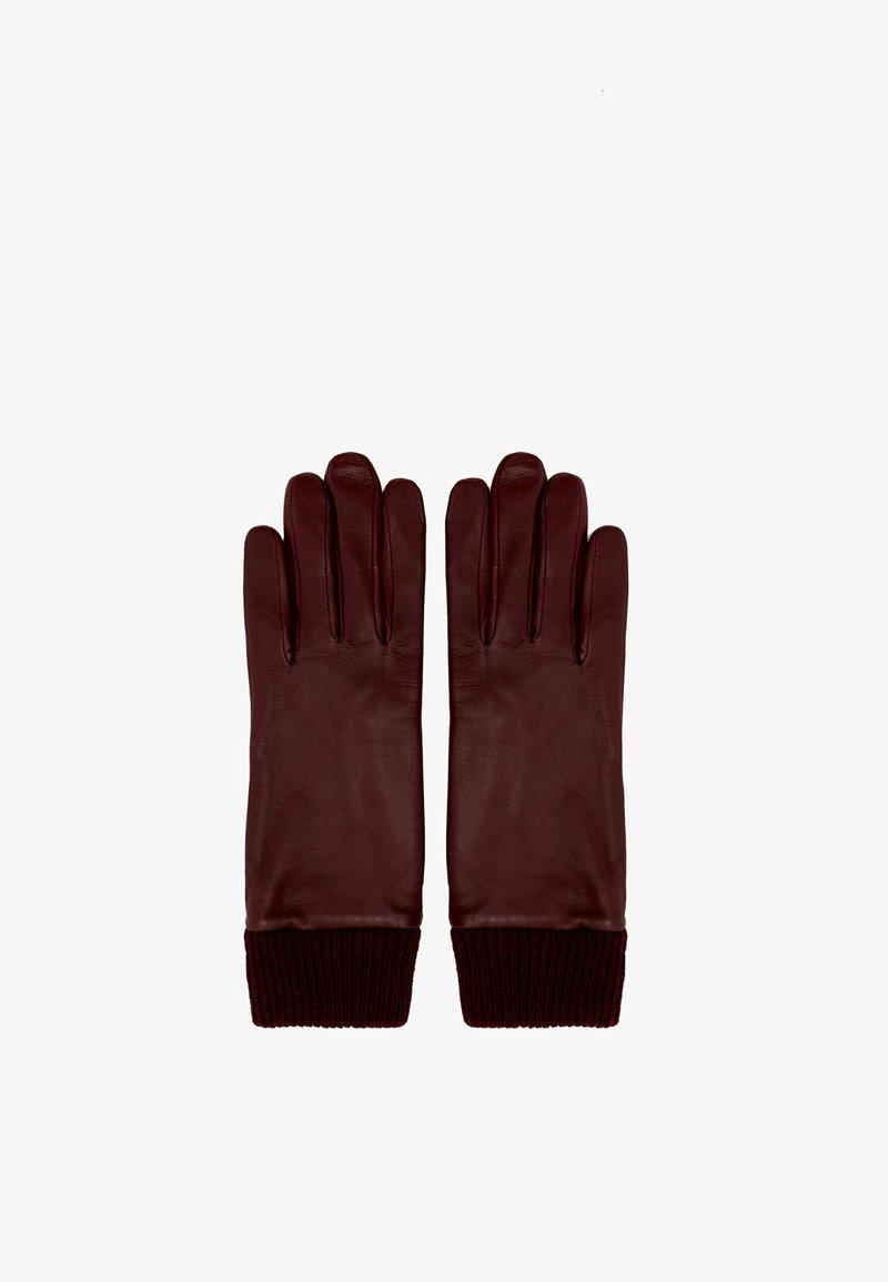 Uterqüe - Gloves - bordeaux