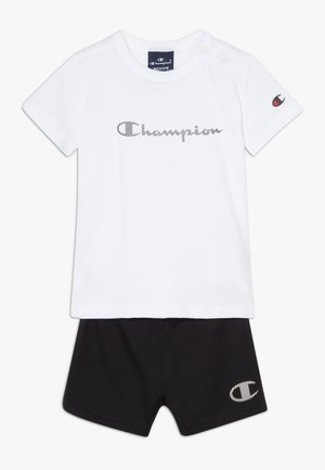 CHAMPION X ZALANDO TODDLER SUMMER SET - Korte broeken - white/black