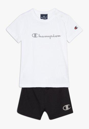 CHAMPION X ZALANDO TODDLER SUMMER SET - Urheilushortsit - white/black
