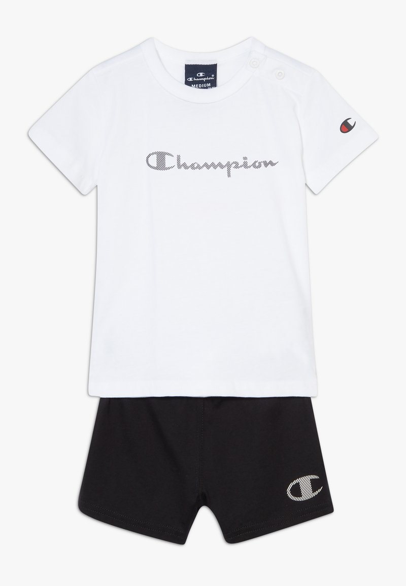 Champion - CHAMPION X ZALANDO TODDLER SUMMER SET - Sports shorts - white/black