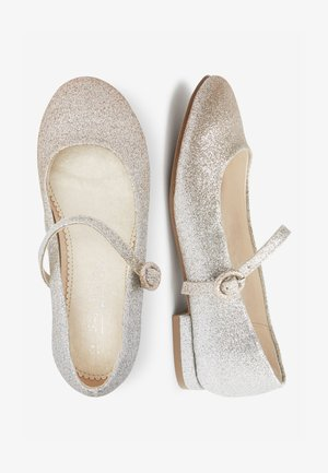SILVER/GOLD GLITTER HEELED MARY JANE SHOES (OLDER) - Baleriny - gold