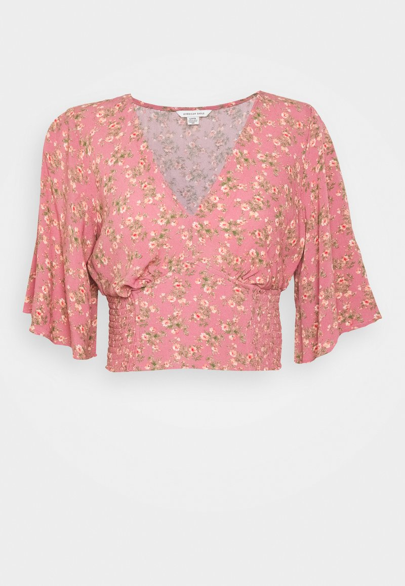 American Eagle - FLUTTER - Blouse - berry