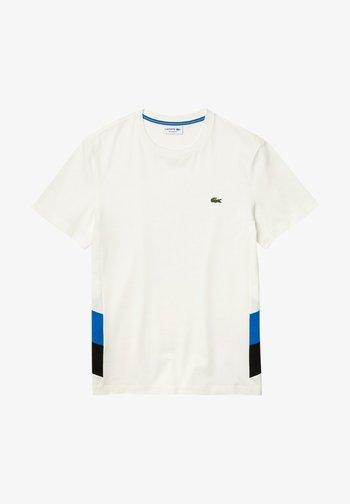 T-shirt con stampa - blanc / bleu / noir