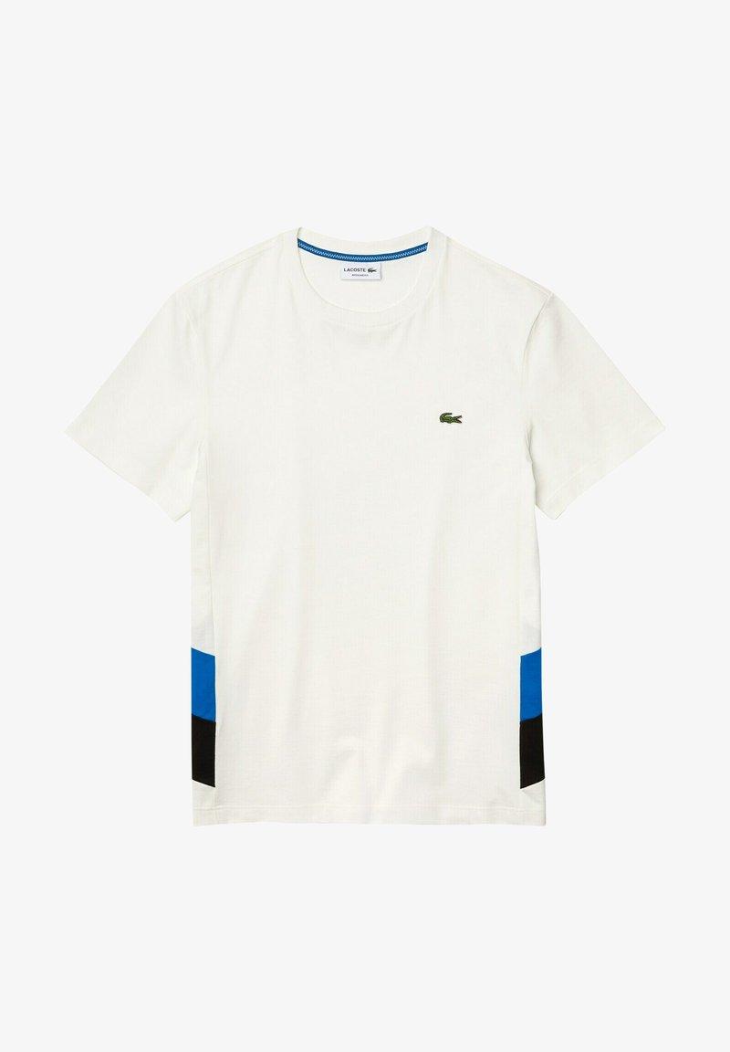 Lacoste Sport - Printtipaita - blanc / bleu / noir