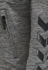 Hummel - ASTON - Zip-up sweatshirt - dark grey melange - 4