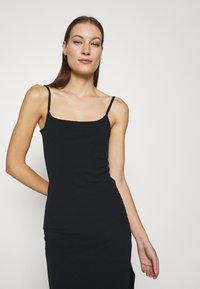 Abercrombie & Fitch - MIDI DRESS - Day dress - black - 3