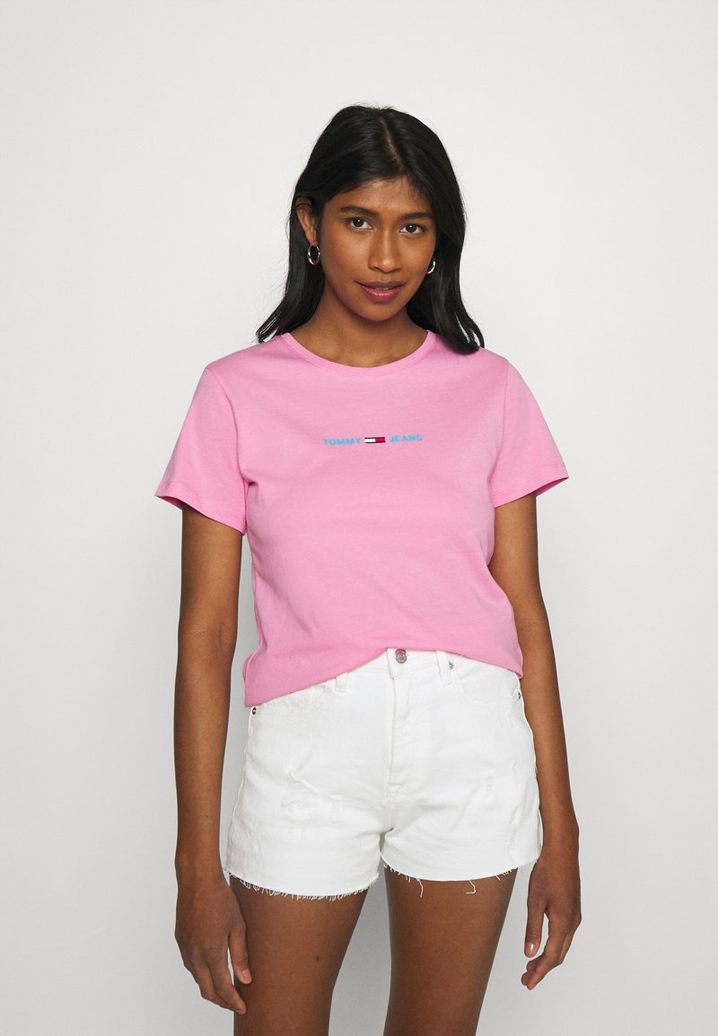 Tommy Jeans - T-shirts med print - pink daisy