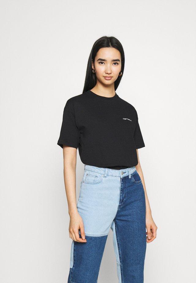 SCRIPT EMBROIDERY - T-shirt print - black/white