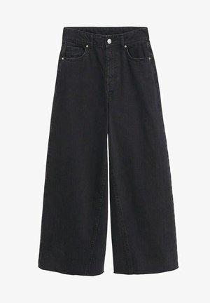 CULOTTE MET GERAFELDE - Flared Jeans - black denim