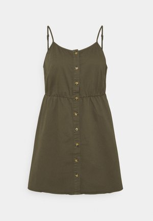 VMFLICKA STRAP SHORT DRESS - Denim dress - ivy green