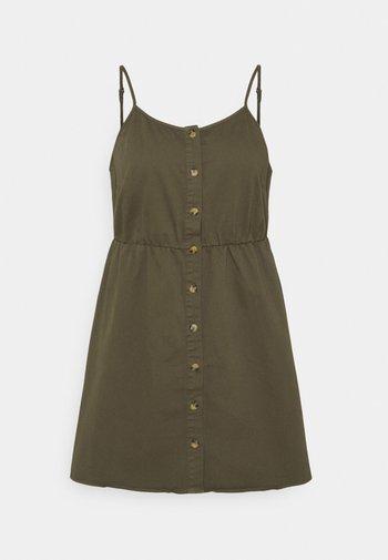 VMFLICKA STRAP SHORT DRESS - Denim dress - ivy green