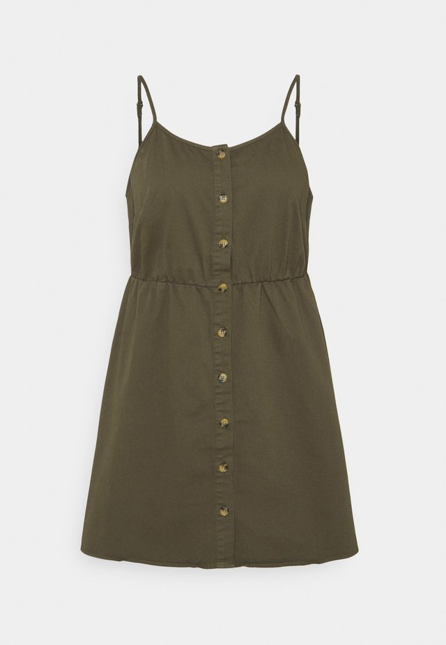 VMFLICKA STRAP SHORT DRESS - Denimové šaty - ivy green