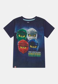 LEGO Wear - Print T-shirt - dark navy - 0