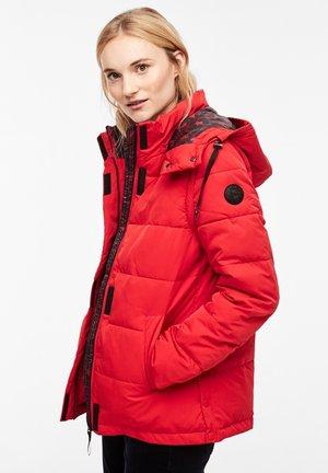 MIT ABNEHMBAREN ÄRMELN - Winter jacket - red