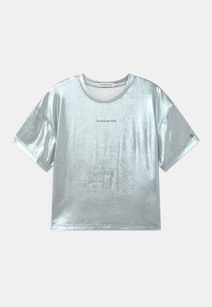 Print T-shirt - silver metallic